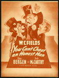 """Movie Posters:Comedy, You Can't Cheat an Honest Man (Universal, 1939). Herald (8.5"""" X 11.5""""). Comedy.. ..."""