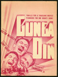 "Movie Posters:Action, Gunga Din (RKO, 1939). Herald (9"" X 11.5""). Action.. ..."