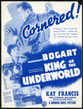 """Movie Posters:Crime, King of the Underworld (Warner Brothers, 1939). Herald (9"""" X 11"""").Crime.. ..."""