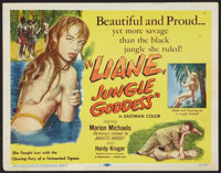 "Liane, Jungle Goddess Lot (DCA, 1958). Title Lobby Card (11"" X 14""), One Sheet (27"" X 41""), Argentin..."