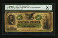 Large Size:Demand Notes, Fr. 10a $10 1861 Demand Note PMG Very Good 8 Net.. ...