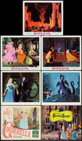 "Movie Posters:Animation, Cinderella Lot (RKO & Buena Vista, 1950 & R-1970). TitleLobby Card and Lobby Cards (6) (11"" X 14""). Animation.. ... (Total:7 Items)"