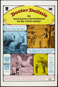 """Doctor Dolittle (20th Century Fox, 1968). One Sheet (27"""" X 41"""") and Window Card (14"""" X 22""""). Fantasy..."""