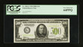 Small Size:Federal Reserve Notes, Fr. 2201-G $500 1934 Light Green Seal Federal Reserve Note. PCGS Very Choice New 64PPQ.. ...