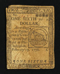 Continental Currency February 17, 1776 $1/6 Fine
