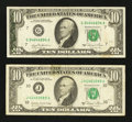 Error Notes:Error Group Lots, Fr. 2025-G $10 1981 Federal Reserve Note. Very Fine;. Fr. 2026-J$10 1981A Federal Reserve Note. Very Fine.. ... (Total: 2 notes)