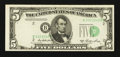 Error Notes:Shifted Third Printing, Fr. 1962-B $5 1950A Federal Reserve Note. Very Fine-Extremely Fine.. ...