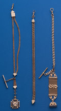 Timepieces:Watch Chains & Fobs, Three Antique Chains & Fobs. ... (Total: 3 Items)