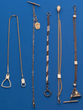 Timepieces:Watch Chains & Fobs, A Lot of Five Watch Chains. ... (Total: 5 Items)