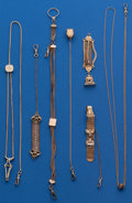 Timepieces:Watch Chains & Fobs, A Lot of Size Watch Chains. ... (Total: 6 Items)