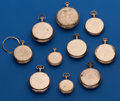 Timepieces:Pocket (post 1900), A Lot of 10 Gold Filled Pocket Watch Cases For Parts, 2 Open Face, 4 Hunter Cases, 4 Hunters Without Front Lids. ... (Total: 10 Items)