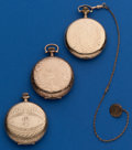 Timepieces:Pocket (post 1900), Three - 12 Size, Gold Filled Hunters Cases. ... (Total: 3 Items)