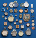 Timepieces:Other , 26 - Assorted Watch Cases 10 Pocket Watch 16 Wristwatches. ...(Total: 26 Items)