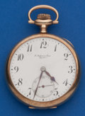 Timepieces:Pocket (post 1900), Longines 14k Gold Private Label 16 Size Pocket Watch. ...