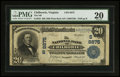 National Bank Notes:Virginia, Chilhowie, VA - $20 1902 Plain Back Fr. 652 The NB of Chilhowie Ch.# (S)8875. ...