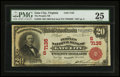 National Bank Notes:Virginia, Gate City, VA - $20 1902 Red Seal Fr. 639 The Peoples NB Ch. #(S)7135. ...