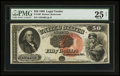 Large Size:Legal Tender Notes, Fr. 160 $50 1880 Legal Tender PMG Very Fine 25 Net.. ...