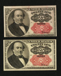 Fractional Currency:Fifth Issue, Two Fr. 1309 25¢ Fifth Issue Notes About New.. ... (Total: 2 notes)