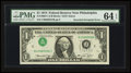 Error Notes:Inverted Third Printings, Fr. 1908-C $1 1974 Federal Reserve Note. PMG Choice Uncirculated 64EPQ.. ...