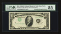 Error Notes:Inverted Third Printings, Fr. 2011-B $10 1950A Federal Reserve Note. PMG About Uncirculated55.. ...