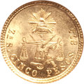 Mexico: , Mexico: Republic gold 5 Pesos 1877Zs-S/A,...