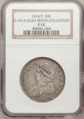 Bust Half Dollars, 1814/3 50C Fine 12 NGC. O-101a. Ex: Jules Reiver Collection. NGCCensus: (3/102). PCGS Population (3/130). Numismedia Wsl...