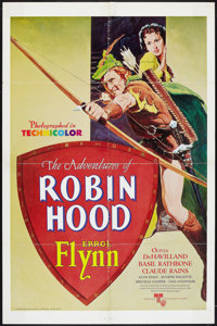 """The Adventures of Robin Hood Lot (United Artists, R-1976). One Sheets (2) (27"""" X 41""""). Swashbuckler. ... (Tota..."""