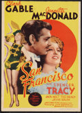 "Movie Posters:Romance, San Francisco (MGM, 1936). Midget Window Card (8"" X 11""). Romance.. ..."