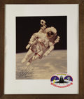 """Autographs:Celebrities, Bruce McCandless Large Signed """"First Untethered Walk in Space""""Color Photograph, 10.75"""" x 13.25"""", matted to 15.5"""" x 19.5"""". I...(Total: 1 Item)"""