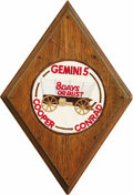 "Autographs:Celebrities, Gemini 5 Space-Flown Patch, 3.75""-diameter, affixed to a 6""diamond-shaped wooden mount, covered in clear plastic. Accompani...(Total: 1 Item)"