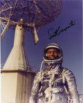 "Autographs:Celebrities, Scott Carpenter Signed Color Photograph ""Scott Carpenter"" 8""x 10"". After his 1962 Project Mercury flight aboard Aurora ...(Total: 1 Item)"
