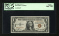 Small Size:World War II Emergency Notes, Fr. 2300 $1 1935A Hawaii Silver Certificate. PCGS Gem New 66PPQ.. This $1 Hawaii never served in circulation leaving it well...