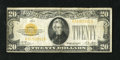 Small Size:Gold Certificates, Fr. 2402 $20 1928 Gold Certificate. Fine.. The orange ink is nice on the face of this $20 Gold. The left frame line is up ag...