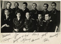 "Autographs:Celebrities, Yuri Gagarin Cosmonaut Photograph with Lengthy AutographInscription Signed on Verso, 8"" x 4"" image, overall 8"" x 6"". TheB&... (Total: 1 Item)"