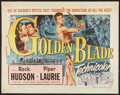 "Movie Posters:Adventure, The Golden Blade Lot (Universal International, 1953). Half Sheets(2) (22"" X 28""). Adventure.. ... (Total: 2 Items)"