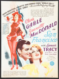 """Movie Posters:Romance, San Francisco Lot (MGM, 1936). Herald (9"""" X 12""""), and Photos (2) (8"""" X 10""""). Romance.. ... (Total: 3 Items)"""