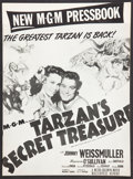 "Movie Posters:Adventure, Tarzan's Secret Treasure (MGM, R-1940s). Presskit (Multiple Items,11"" X 15""). Adventure.. ..."
