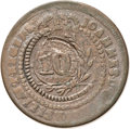 Brazil, Brazil: Pedro I Crowned 40 (Reis) Counterstamped on a 20 Reis ofJoao VI (1822),...