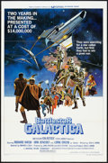 "Movie Posters:Science Fiction, Battlestar Galactica (Universal, 1978). One Sheet (27"" X 41"") andLobby Card (11"" X 14"") Style D. Science Fiction.. ... (Total: 2Items)"