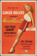 "Movie Posters:Romance, Heartbeat (RKO, 1946). One Sheet (27"" X 41""). Romance.. ..."