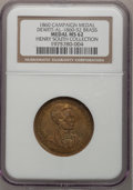 U.S. Presidents & Statesmen, 1860 Lincoln Campaign Medal MS62 NGC. Ex: Henry South Collection.DeWitt-AL-1860-52. Brass....