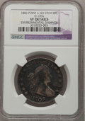 Early Half Dollars, 1806 50C Pointed 6, No Stem--Environmental Damage--NGC Details. VF.O-109a. (#6073)...
