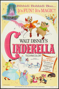 "Movie Posters:Animation, Cinderella (Buena Vista, R-1973). One Sheet (27"" X 41""). Animation.. ..."