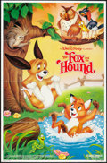 "Movie Posters:Animated, The Fox and the Hound (Buena Vista, R-1988). One Sheet (27"" X 41""). Animated.. ..."
