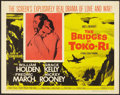 "Movie Posters:War, The Bridges at Toko-Ri (Paramount, R-1959). Half Sheet (22"" X 28"").War.. ..."