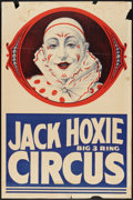 """Movie Posters:Western, Jack Hoxie Circus Poster (Riverside Print Co, 1937). One Sheet (28"""" X 42""""). Western.. ..."""