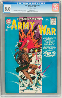 Our Army at War #136 (DC, 1963) CGC VF 8.0 Off-white to white pages