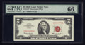 Small Size:Legal Tender Notes, Low Serial Number Fr. 1513* $2 1963 Legal Tender Star Note. PMG Gem Uncirculated 66 EPQ.. ...