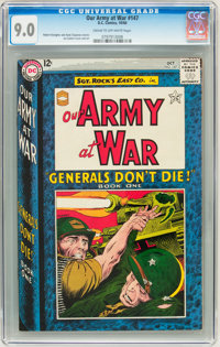 Our Army at War #147 (DC, 1964) CGC VF/NM 9.0 Cream to off-white pages