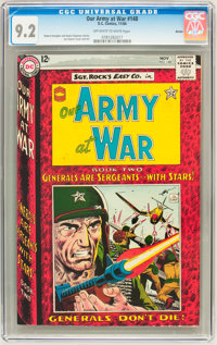 Our Army at War #148 Boston pedigree (DC, 1964) CGC NM- 9.2 Off-white to white pages